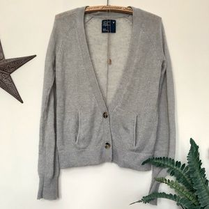 ✨3 for $35✨grey wool blend long sleeve cardigan